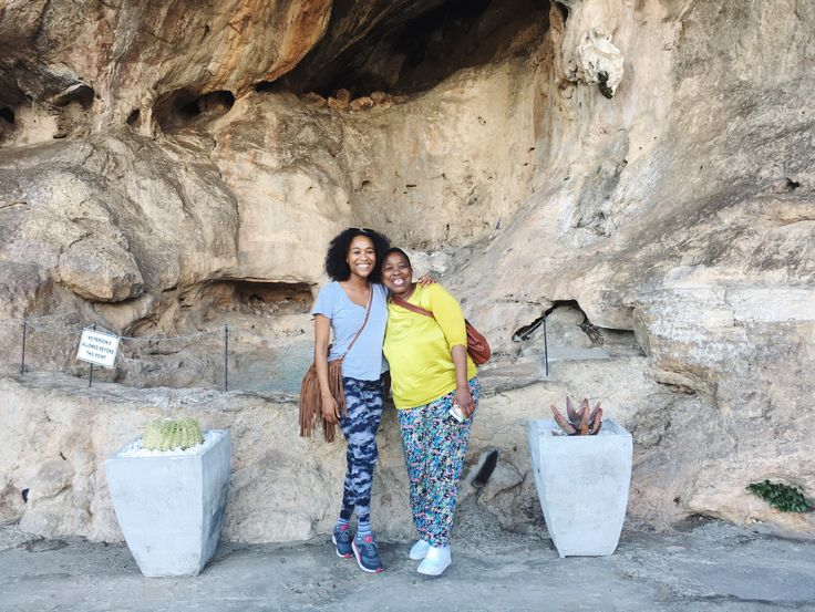Cango Caves with my mom