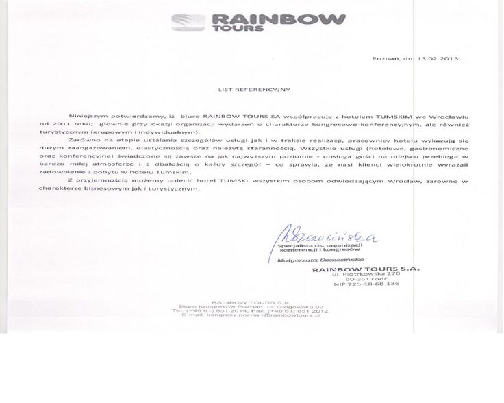 Recommendations of Rainbow Tours