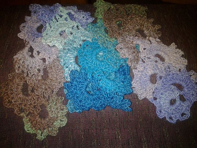 crochet scarf I made, link to pattern on ravelry   Ravelry: tamsin5's 2nd queen anne lace scarf