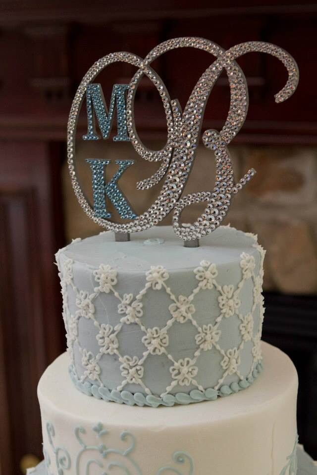 Monogram Cake Topper - Custom Design