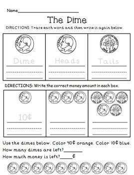 money coin review practice worksheet set educational stuff pinterest money coins and. Black Bedroom Furniture Sets. Home Design Ideas