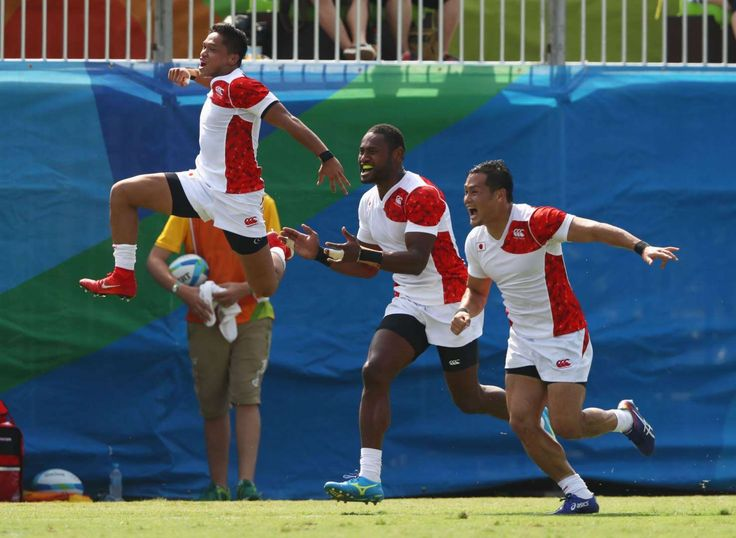Rio Olympics: Highs and lows from day four:      Brazil soars high:     Japanese players celebrate their win against New Zealand at the Men's rugby sevens Pool C match.