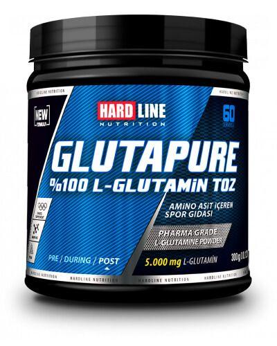 Hardline Glutapure 500 gr, farmasötik kalitede %100 glutamin içeren, amino asit takviyesidir. L-Glutamin vücutta birçok yaşamsal faaliyette görev alan ve insan vücudunda en fazla bulunan amino asit türü olup, karbonhidrat ve protein sentezi içi son derece önemli, anabolik (kas yapıcı) etkilidir.