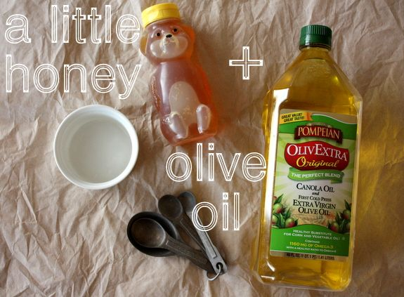 DIY home made hair mask:  - 1 tablespoon honey    - 3 tablespoons olive oil  Put both ingredients in a bowl - microwave for up to 30 seconds, mix thoroughly, work in to damp hair starting at the ends up to scalp, once gone wrap hair in a (damp) warm towel and relax for 30 minutes.  Wash as usual and enjoy your new, beautiful, SOFT, manageable, no fly-away hair!