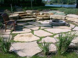 Another broken concrete patio idea