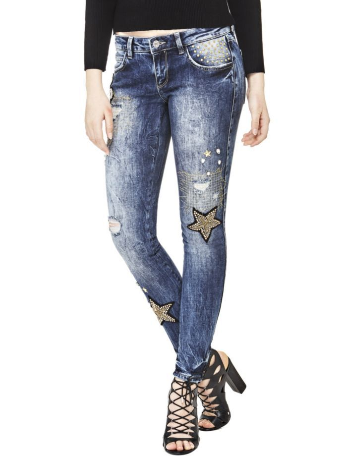 EUR199.90$  Watch now - http://vigdd.justgood.pw/vig/item.php?t=ja5ra5449669 - EMBROIDERED COTTON JEANS EUR199.90$