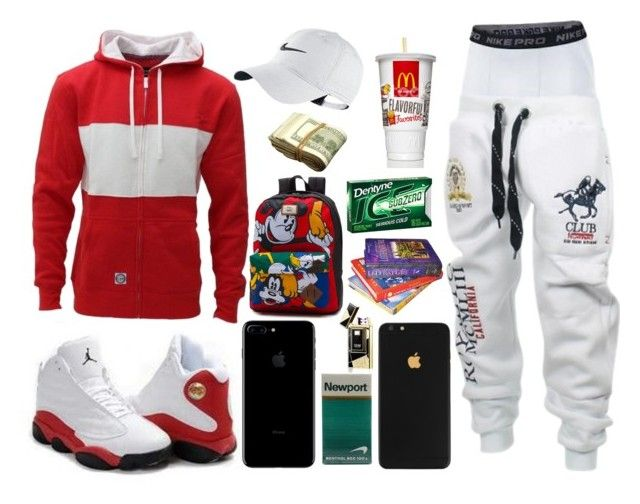 """""""Blaide 4"""" by itzyalocalwhiteboy on Polyvore featuring NIKE, men's fashion and menswear"""