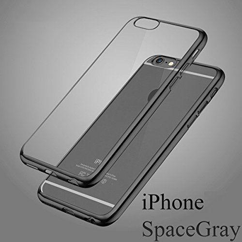 手元から一つ上の上品へiPhone6S ケース iPhone6 ケース 弧状設計 脱着簡単 超薄型耐衝撃 保護キャップ 一体型 ソフト TPU ケース クリア クリーニングクロス の2点セット DISE オリジナルセット (iPhone6/6s スペースグレイ)