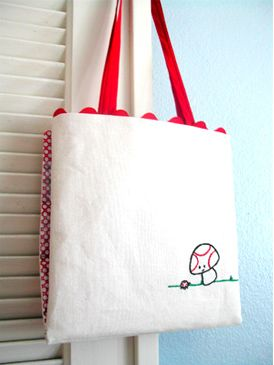 Embroidery Bag Tutorial, triedandtrueblog.com: Sweet Ladybugs, Crosses Stitches Embroidery, Bags Tutorials, Beautiful Embroidery Bags, Embroidery Tools, Bags Tots, Bags Lady, Sewing Tutorials, Embroidery Bags Sewing