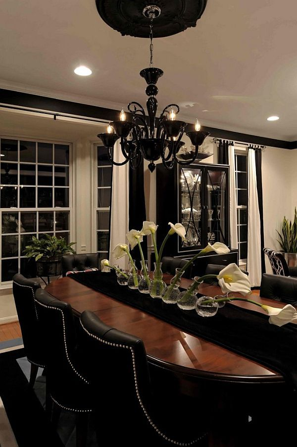 Best 25  Black dining rooms ideas on Pinterest   Black dining room sets   Black dinning room table and Dining room chairs. Best 25  Black dining rooms ideas on Pinterest   Black dining room