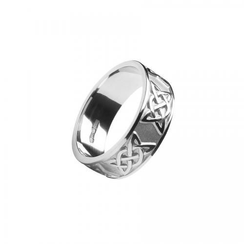 Parnell Triscele Wedding Band-Silver