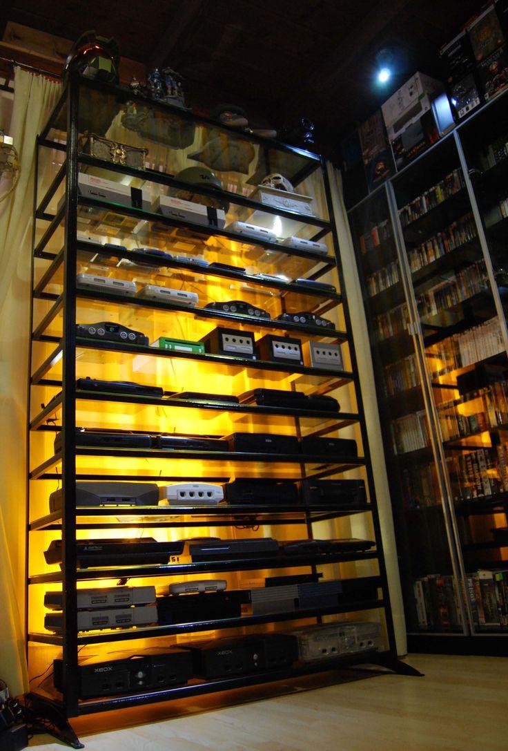 Videogame System Shelf Game Rooms Pinterest