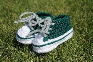 Crochet baby sneakers. Roughrider colours. 3 month $30