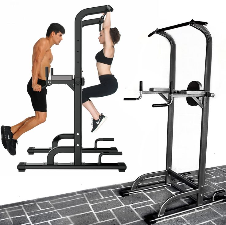 Power tower dip bar pull up stand fitness station sports