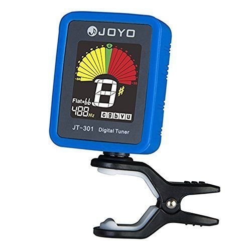 Joyo JT301 Clipon Electric Digital Tuner Color Screen with Silica Gel Cover for Guitar Chromatic Bass Violin Ukulele Universal Portable * For more information, visit image link.Note:It is affiliate link to Amazon. #liketeam