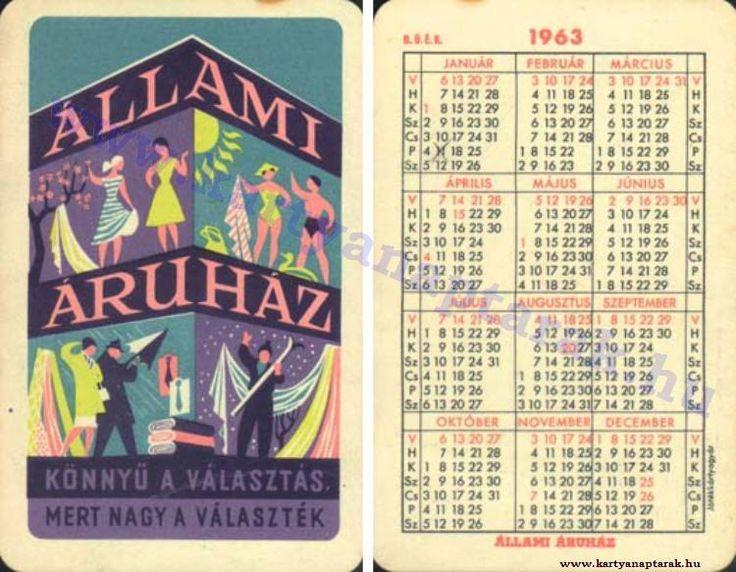 1963 - 1963_0107 - Régi magyar kártyanaptárak