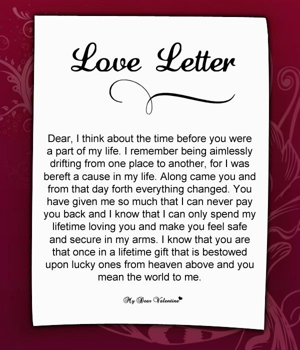Love Letter For Him: Dear, I think about the time before you were a ...