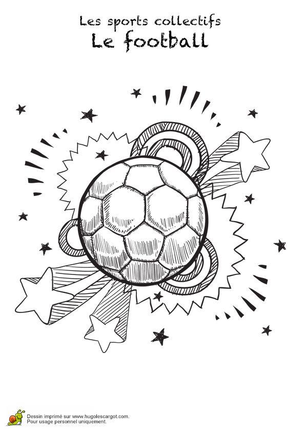 Symbole pour marquer le foot comme étant un sport collectif, à embellir par un joli coloriage