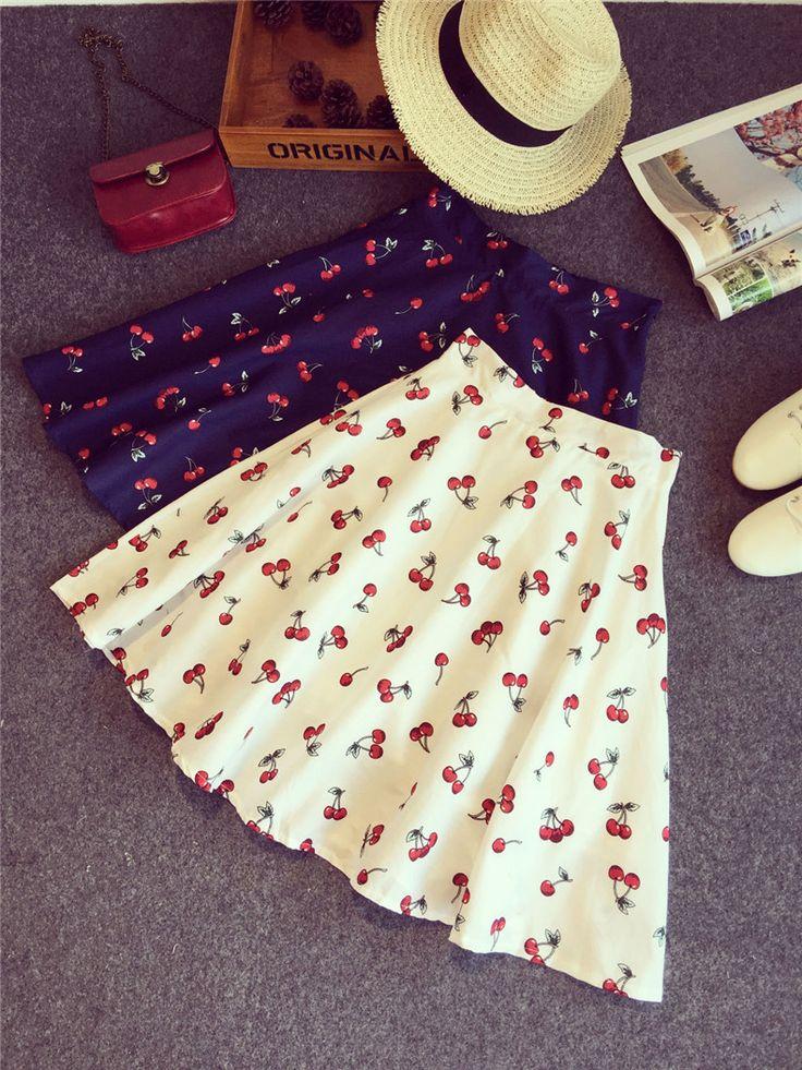 2 cherry skirts
