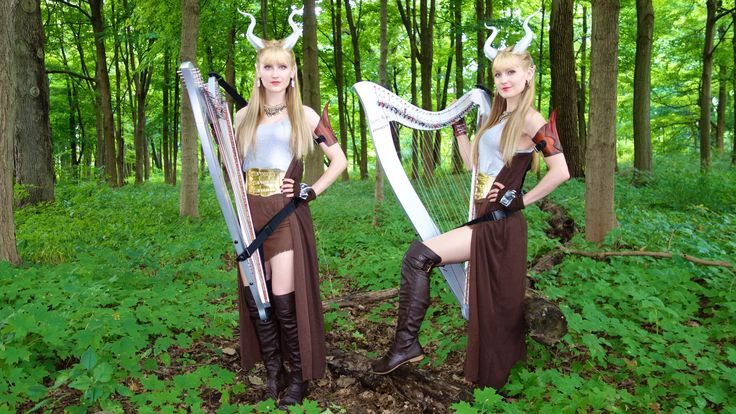 The Harp Twins Perform Majestic Cover of the Elwynn Forest Theme Song From World of Warcraft