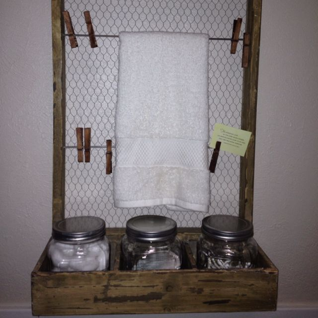 Bathroom decor with mason jars for the home pinterest for Bathroom decor mason jars
