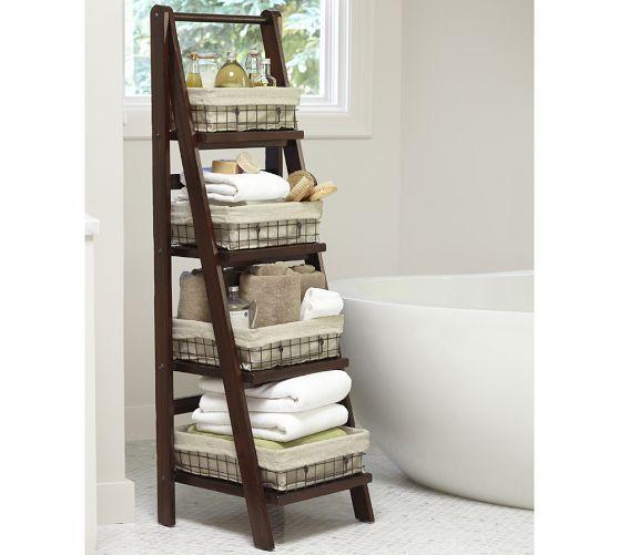 Pottery barn bathroom floor ladder visit for Bathroom design visit