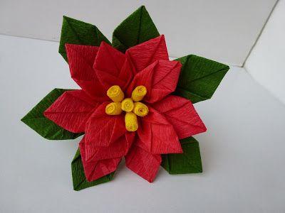 Jak zrobić? Gwiazda betlejemska z bibuły #DIY #TUTORIAL #HANDMADE #BIBUŁA #KWIAT