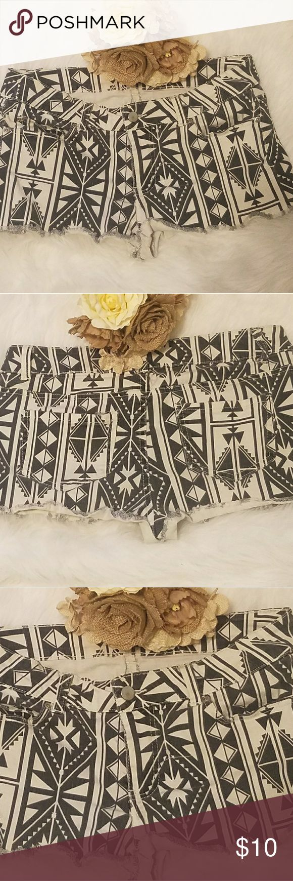 Aztec  Womens Shorts Black and White Shorts by Forever21 Forever 21 Shorts