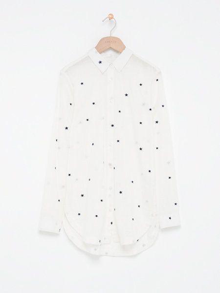 geborduurde blouse offwhitewit