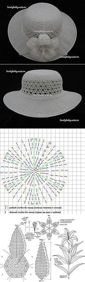 Um chapéu para o verão com campos densos.