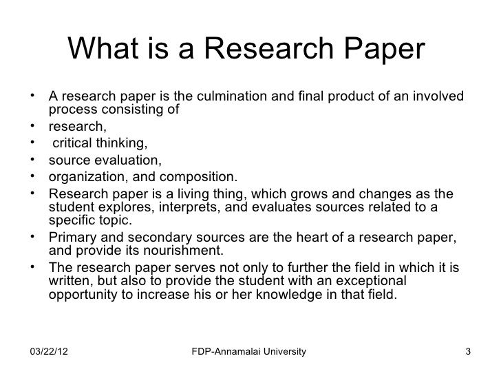 Writing a history research paper -