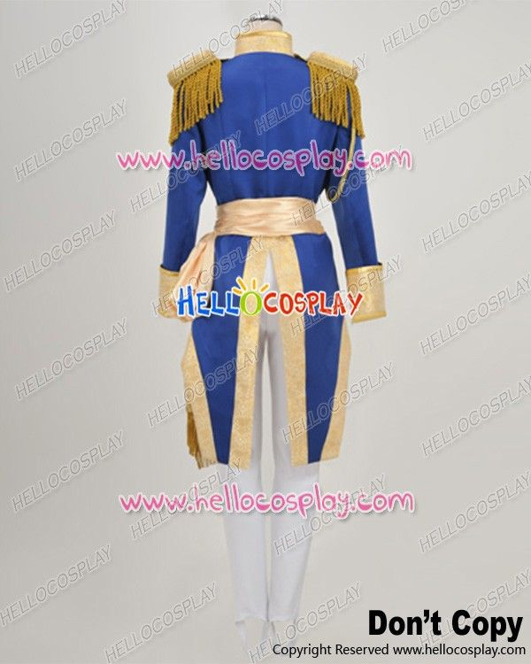 The Rose Of Versailles Cosplay Oscar Francois De Jarjayes Uniform Costume H008