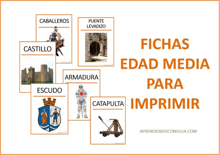 Tarjetas de vocabulario medieval para imprimir. Proyecto de la edad media. – Apr…