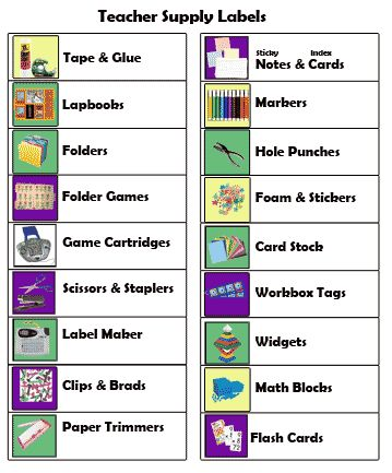 Printable Homeschool workbox  Labels