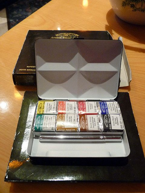 watercolour bijou box | That's how my Bijou box looks like. It's really small and light. About ...