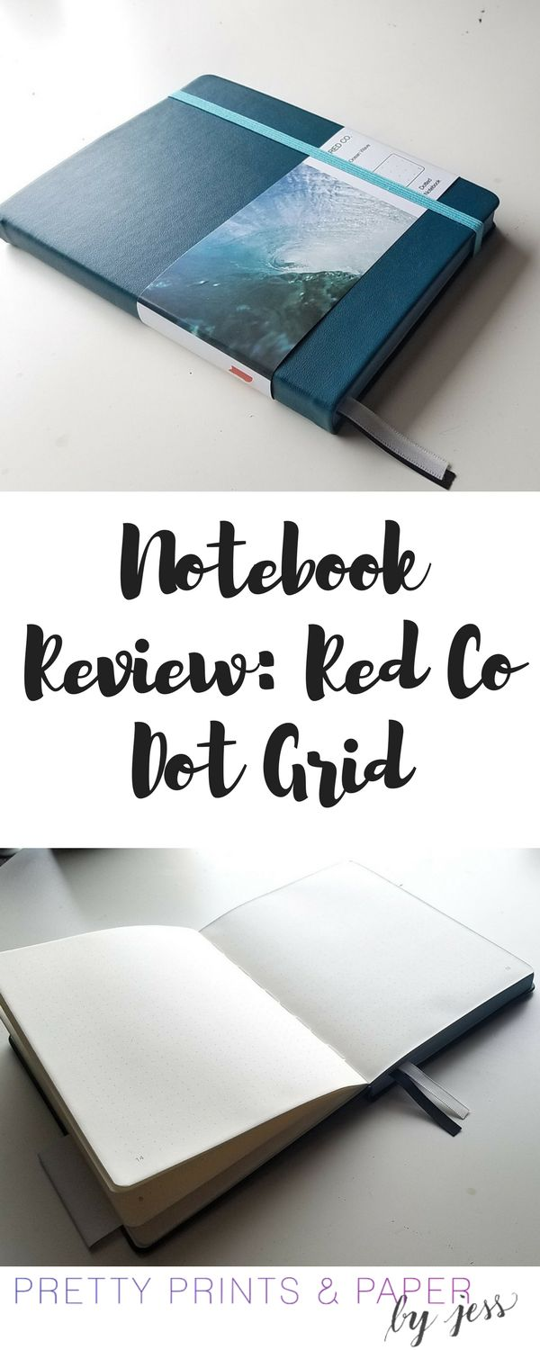 P bullet journal notebook review red co dot grid