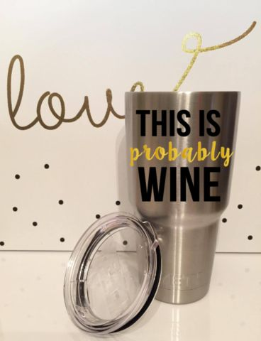 Yeti Tumbler Decals (Wine)