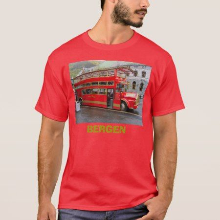 Norway, Bergen, tourist bus T-Shirt - click to get yours right now!