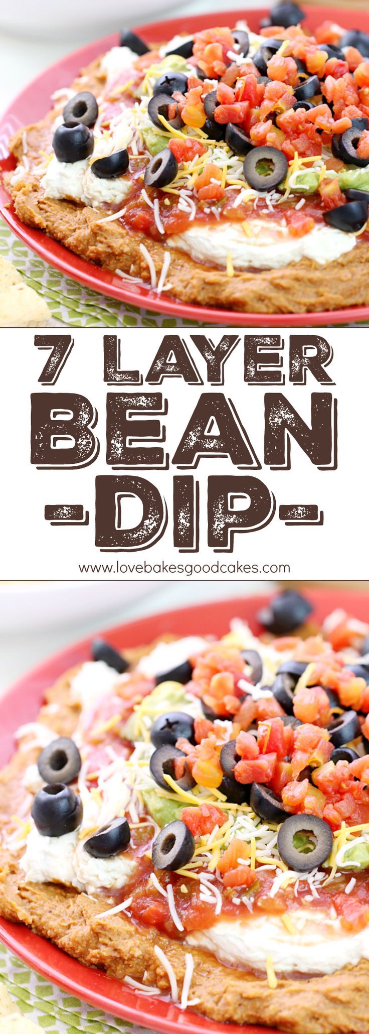 The classic 7 Layer Bean Dip - just like you remember it! It's great for fiestas, potlucks, game day entertaining - or anytime you need a delicious and easy idea that is a real crowd-pleaser! AD #FlavorYourFiesta #JustSayOle @joseolecentral