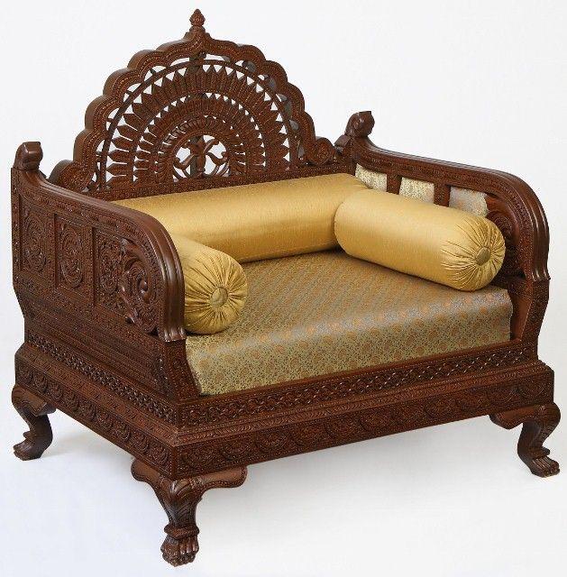 Superb Royal Indian Rajasthani Jodhpur Hand Carved Teak Wooden Sofa Diwan Sets U0026  Divan Chairs (Carved Furnitures By Classic Silvocrafts