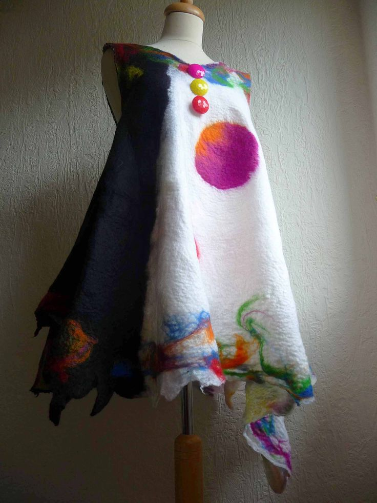 A little outer worldy but I love this...From Inken Gaddass of Felted Art to Wear