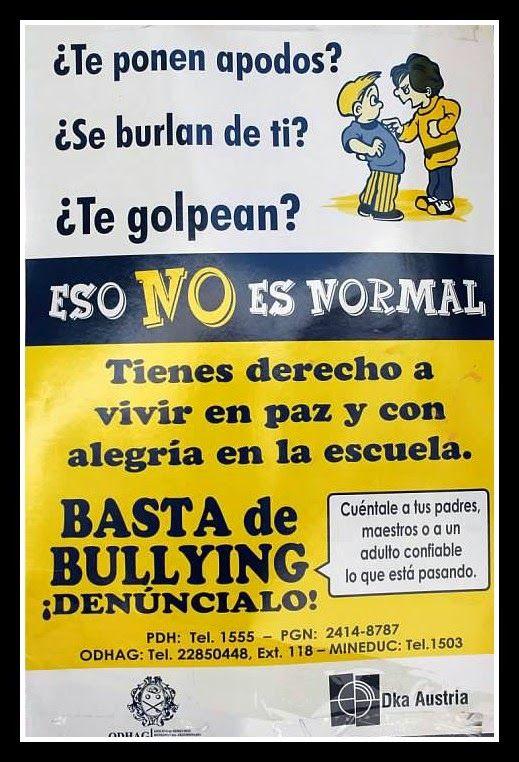 Anti Bullying poster in Spanish