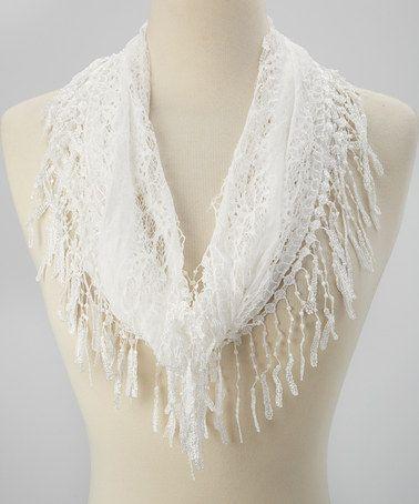Ravelry: Fishnet Fringe Scarf Crochet Pattern pattern by