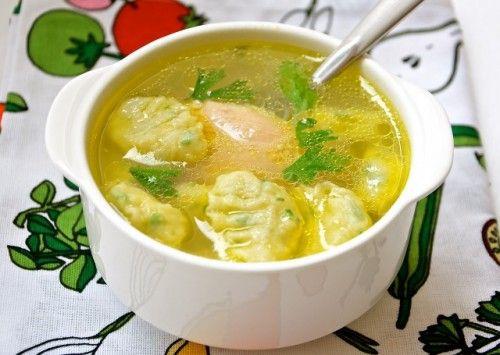 Суп с клецками, рецепты супа с клецками / Простые рецепты