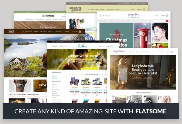 Flatsome is a high quality, responsive Wordpress theme that features the WooCommerce plugin. Perfect for eCommerce websites!