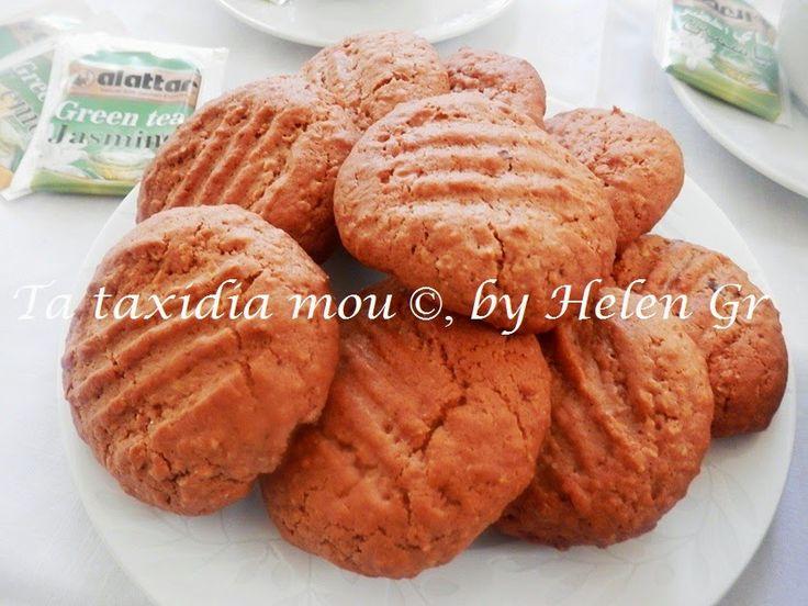 Τα ταξίδια μου : Μπισκότα με Nutella και Νιφάδες Βρώμης - Cookies with Nutella and Oat Flakes