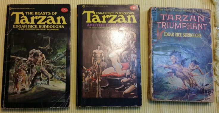 Vintage Tarzan books ,Edgar Rice Burroughs,Lad Lion, Golden Lion, Ant Men, Beasts of Tarzan ,City of Gold ,Tarzan Triumphant, Lot  6 Tarzan by PickyVintagePicks on Etsy