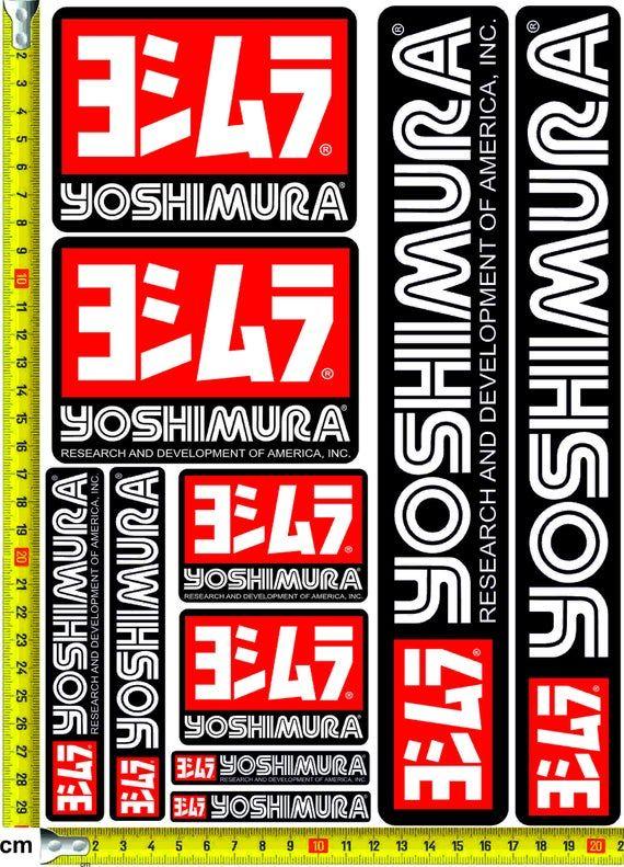 Yoshimura Stickers Decals Car Bike Street Racing Etsy In 2020 Decals Stickers Street Racing Stickers