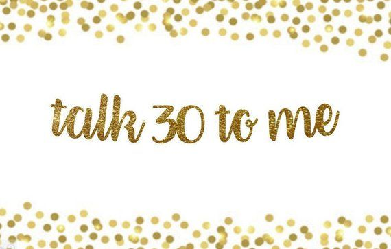Talk 30 To Me Banner 30th Birthday Banner,Talk Thirty To Me Gold Dirty 30,Thirsty 30