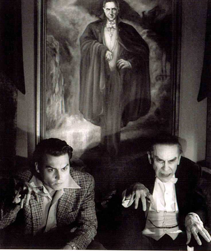 "Ed and Bela (Johnny Depp and Martin Landau) from the film 'Ed Wood'. Ed Wood is one of the undisputed kings of ""B"" movie directing. Plan 9 from Outer Space is his masterpiece."